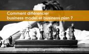 Différencier business plan et business model