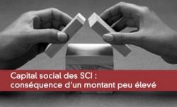 Capital social des SCI : cons�quence d'un montant peu �lev�