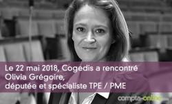 Cogedis a rencontré Olivia Grégoire, députée et spécialiste TPE / PME