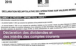 Déclaration des dividendes et des intérêts des comptes courants