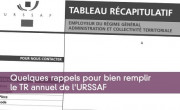 Tableau récapitulatif URSSAF
