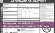 Entreprises : modification des obligations en matière d'affichage