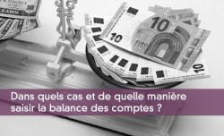 Saisir la balance des comptes
