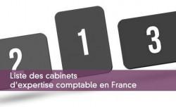 Liste des cabinets d'expertise comptable en France