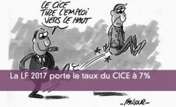 La LF 2017 porte le taux du CICE à 7%