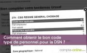 Obtenir le bon code type de personnel pour la DSN