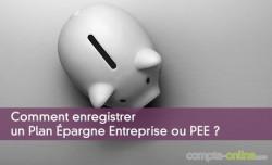 Comment enregistrer un Plan Épargne Entreprise ou PEE ?