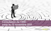 Consultation de l'ANC jusqu'au 12 novembre 2019