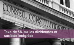 Taxe de 3% sur les dividendes et sociétés intégrées