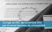 Corrigé du DEC de novembre 2016 par la RFC
