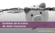 Synthèse de la notion de dette mezzanine