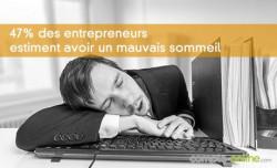 47% des entrepreneurs estiment avoir un mauvais sommeil