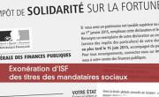 Exonération d'ISF des titres des mandataires sociaux