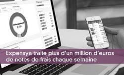 Expensya traite plus d'un million d'euros de notes de frais chaque semaine