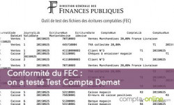 Conformité du FEC : on a testé Test Compta Demat