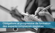 Obligations et programme de formation des EC stagiaires