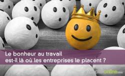 Le bonheur au travail est-il là où les entreprises le placent ?