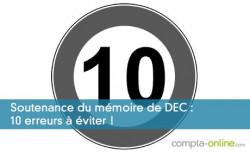 Soutenance du mémoire de DEC : 10 erreurs à éviter !
