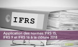 Application des normes IFRS 15, IFRS 9 et IFRS 16 à la clôture 2018