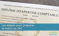 Les étapes pour préparer la notice du DEC