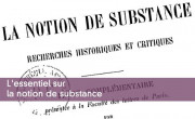 L'essentiel sur la notion de substance