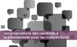 Les propositions des candidats à la présidentielle pour les indépendants
