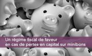 Un régime fiscal de faveur en cas de pertes en capital sur minibons