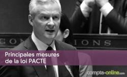 Principales mesures de la loi PACTE