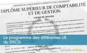 Le programme des différentes UE du DSCG