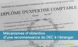 Mécanismes d'obtention d'une reconnaissance du DEC à l'étranger