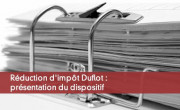 Réduction d'impôt Duflot : présentation du dispositif
