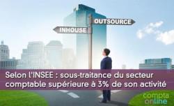 Selon l'INSEE : sous-traitance du secteur comptable supérieure à 3% de son activité