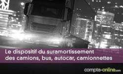 Le dispositif du suramortissement des camions, bus, autocar, camionnettes