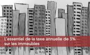 L'essentiel de la taxe annuelle de 3% sur les immeubles
