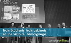 Trois étudiants, trois cabinets et une victoire : témoignage